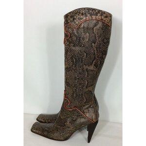 Aldo Snakeskin Women's Boots Size 6